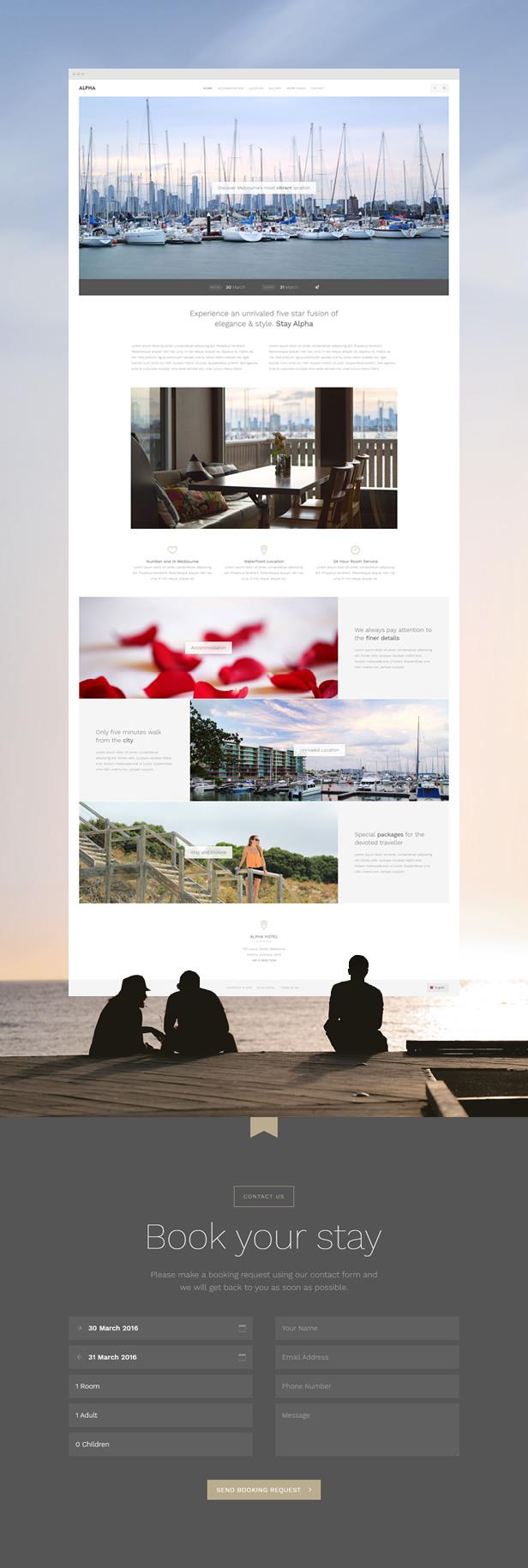 Alpha Hotel - Website Template | Prosyscom Tech 2